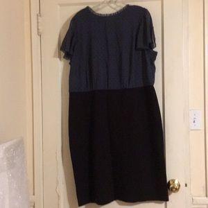 Loft Fully-lined dress - Dusty blue/black